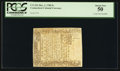 Colonial Notes:Connecticut, Connecticut March 1, 1780 5s Cross Cut Cancel PCGS About New 50.....