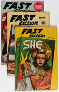 Golden Age (1938-1955):Classics Illustrated, Fast Fiction #3-5 Group (Seaboard Pub., 1949-50).... (Total: 3Comic Books)