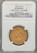 Liberty Eagles: , 1852-O $10 -- Improperly Cleaned -- NGC Details. XF. NGC Census:(7/83). PCGS Population (12/63). Mintage: 18,000. Numismed...