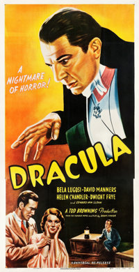 "Dracula (Universal, R-1947). Three Sheet (41.25"" X 79.5"")"