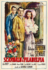 "The Philadelphia Story (MGM, 1947). First Post-War Release Italian 4 - Foglio (55"" X 78"")"
