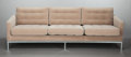 Furniture , FLORENCE KNOLL (American, b. 1917). Sofa, 1954. Upholstery, steel, wood frame, polished chrome finish. 30-1/2 x 89 x 32 ...