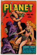 Golden Age (1938-1955):Science Fiction, Planet Comics #40 (Fiction House, 1946) Condition: GD+....