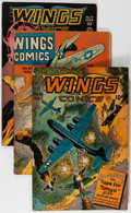 Golden Age (1938-1955):War, Wings Comics/Fight Comics Group (Fiction House, 1943-48) Condition:Average VG.... (Total: 5 Comic Books)