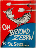 Books:Children's Books, Dr. Seuss. On Beyond Zebra. New York: Random House, [1955].First edition, with first issue dust jacket (with correc...