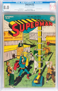 Golden Age (1938-1955):Superhero, Superman #31 (DC, 1944) CGC VF 8.0 Off-white to white pages....