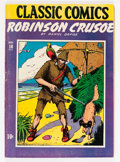 Golden Age (1938-1955):Classics Illustrated, Classic Comics #10 Robinson Crusoe - First Edition (Gilberton,1943) Condition: FN/VF....