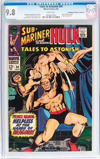 Tales to Astonish #94 Don/Maggie Thompson Collection pedigree (Marvel, 1967) CGC NM/MT 9.8 White pages