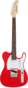 Music Memorabilia:Autographs and Signed Items, Bo Diddley Signed Guitar....