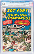 Silver Age (1956-1969):War, Sgt. Fury and His Howling Commandos #10 Don/Maggie Thompson Collection pedigree (Marvel, 1964) CGC NM- 9.2 Off-white to white ...