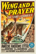 """Movie Posters:War, Wing and a Prayer (20th Century Fox, 1944). One Sheet (27"""" X 41"""")....."""