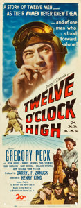 "Movie Posters:War, Twelve O'Clock High (20th Century Fox, 1949). Insert (14"" X 36"").. ..."