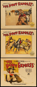 """Movie Posters:Western, The Pony Express (Paramount, 1925). Title Lobby Card and LobbyCards (2) (11"""" X 14"""").. ... (Total: 3 Items)"""
