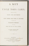 Books:Americana & American History, Harriet Beecher Stowe. A Key to Uncle Tom's Cabin; Presentingthe Original Facts and Documents Upon Which the Story is F...