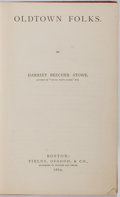Books:Literature Pre-1900, Harriet Beecher Stowe. Oldtown Folks. Fields, Osgood, &Co., 1869. First edition. Publisher's original blind-sta...