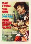 "Movie Posters:Western, The Man Who Shot Liberty Valance (Paramount, 1962). Italian 4 -Foglio (55"" X 76"").. ..."
