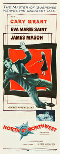 "Movie Posters:Hitchcock, North by Northwest (MGM, 1959). Insert (14"" X 36"").. ..."