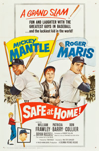 """Safe at Home (Columbia, 1962). One Sheet (27"""" X 41"""")"""