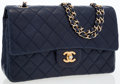 Luxury Accessories:Bags, Chanel Navy Blue Quilted Lambskin Leather Medium Double Flap Bag ....