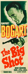 "Movie Posters:Crime, The Big Shot (Warner Brothers, 1942). Insert (14"" X 36"").. ..."