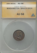 Civil War Merchants, 1864 Great Central Fair, Philadelphia, PA, AU58 ANACS. Baker-363A,Fuld PA750L-1a, Julian CM-43....