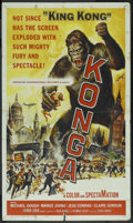 "Movie Posters:Science Fiction, Konga (American International, 1961). One Sheet (27"" X 41"").Science Fiction. ..."