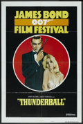"Movie Posters:James Bond, James Bond Film Festival (United Artists, R-1975). One Sheet (27"" X41"") Style B. ""Thunderball."" James Bond. ..."