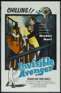 """Invisible Avenger (Republic, 1958). One Sheet (27"""" X 41""""). Action"""