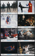 "Movie Posters:Action, Superman II (Warner Brothers, 1980). Lobby Card Set of 8 (11"" X 14""). Action. ... (Total: 8 Items)"