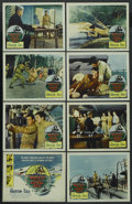 "Movie Posters:War, Battle of the Coral Sea (Columbia, 1959). Lobby Card Set of 8 (11""X 14""). War. ... (Total: 8 Items)"