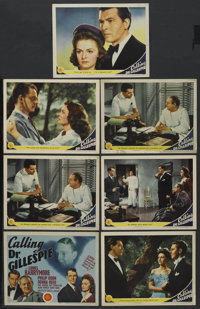 """Calling Dr. Gillespie (MGM, 1942). Title Lobby Card and Lobby Cards (6) (11"""" X 14""""). Drama. ... (Total: 7 Item..."""
