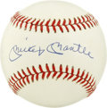 Autographs:Baseballs, Mickey Mantle Single Signed Baseball. No greater honor can bestowedon a baseball than to carry the bold and distinctive si...