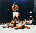 Boxing Collectibles:Autographs, Cassius Clay Signed Oversized Photograph from Ali-Liston II. On May25, 1965 Neil Leifer was one of only two photographers ...