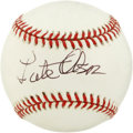 Basketball Collectibles:Others, Lute Olson Single Signed Baseball. Current men's basketball coachat the University of Arizona, Olson marks his 34th season...