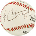 Basketball Collectibles:Others, Jim Calhoun Single Signed Baseball. Enshrined into the BasketballHall of Fame in 2005, Jim Calhoun coached the UCONN baske...