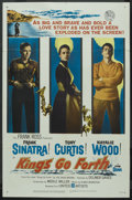 "Movie Posters:War, Kings Go Forth (United Artists, 1958). One Sheet (27"" X 41""). War...."
