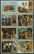 "Movie Posters:Adventure, Davy Crockett and the River Pirates (Buena Vista, 1956). Lobby CardSet of 8 (11"" X 14""). Adventure. ... (Total: 8 Items)"