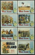 """Movie Posters:War, Wake Island (Paramount, R-1950). Lobby Card Set of 8 (11"""" X 14"""").War. ... (Total: 8 Items)"""