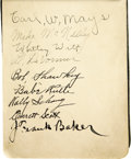 Autographs:Others, Circa 1922 Autograph Book Signed by Rusie, Youngs, Ruth. Despite acast of just eighty-seven signatures held within the lea...