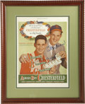 Autographs:Others, 1947 Chesterfield Cigarettes Advertisement Signed by Ted Williamsand Stan Musial. Each league's reigning MVP appears in th...