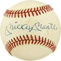 Autographs:Baseballs, Mickey Mantle Single Signed Baseball. Having played more games thanany other New York Yankee, Mickey Mantle holds the reco...
