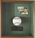 Autographs:Baseballs, Mickey Mantle Single Signed Baseball Display. Elegant display has at its center an elegant example of the Mick's sweet spot...