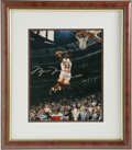 Autographs:Photos, Michael Jordan Signed UDA Photograph. The sheer athletic grace thatHis Airness Michael Jordan had on display each night he...