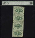Fractional Currency:First Issue, Fr. 1242 10c First Issue Vertical Strip of Four PMG Choice Uncirculated 63 EPQ....