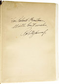 Golf Collectibles:Autographs, 1927 Bobby Jones Signed Book. While any signature from this GoldenAge links legend carries tremendous collecting appeal (a...