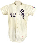 Baseball Collectibles:Uniforms, 1968 Al Lopez Game Worn Jersey. Just four days after the ChicagoWhite Sox ended eighty-eight years of suffering with a cli...
