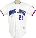 Baseball Collectibles:Uniforms, 2000 Carlos Delgado Game Worn Jersey. Arguably the greatest season ever registered by this superstar first baseman came the...