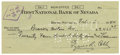 Autographs:Checks, 1940 Ty Cobb Signed Check. The Georgia Peach buys a car.Illustrating the tremendous wealth the savvy Dead Ball superstar...