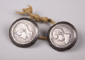 Western Expansion:Cowboy, Early Pair of Silver Horse Rosette's ca early 1900s.... (Total: 2Items)