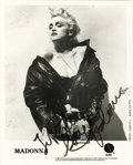 "Movie/TV Memorabilia:Autographs and Signed Items, Madonna Signed Photo. A b&w 8"" x 10"" photo of Madonna circa 1987, inscribed and signed by her in black marker. In Very Fine ... (Total: 1 Item)"